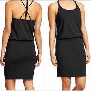 NWT Athleta Venice Dark Black Swim Lycra Dress